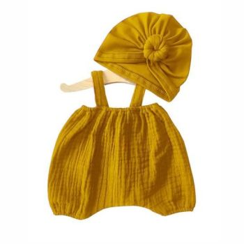 Minikane, Bloomers and Turban SET* (Mustard)