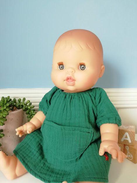 Minikane, Jeanne Dress Double Gauze Cotton (Green)