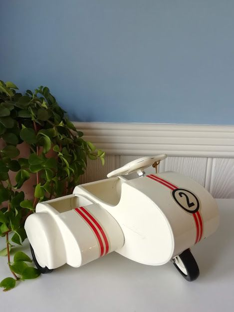 Maileg, Metal Scooter with Sidecar (White)