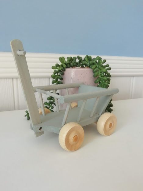 Maileg, Micro Wagon, Mint/Grey