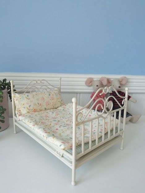 Maileg, Vintage bed, Micro - Soft Sand