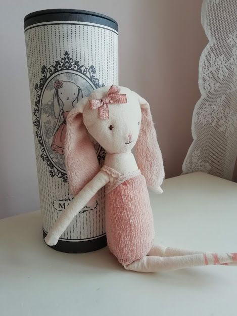 Maileg, Bunny in a Tube - missing a tutu