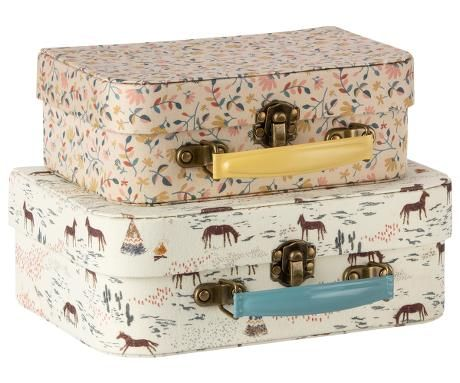 Maileg, Suitcase with Fabric - Set of Two