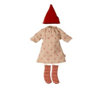 Maileg, Christmas Spotty Dress Outfit for Medium Mouse 2020 - Girl (OCT)