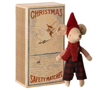 Maileg, Christmas Mouse Big Brother in Matchbox (OCT)
