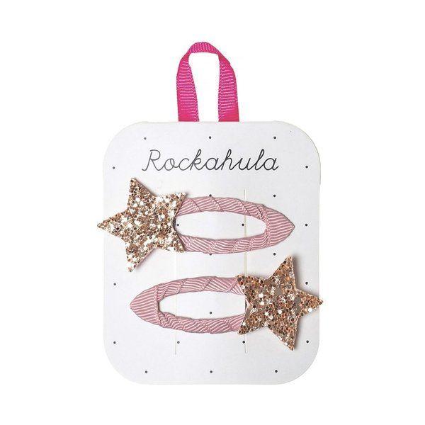 Rockahula Kids, Star Burst Glitter Clips Pink