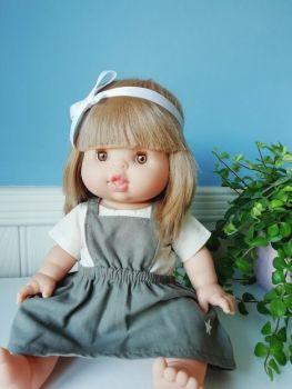 Minikane, Bib dress with cream top