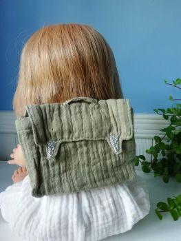Minikane, Doll Backpack - Olive Green