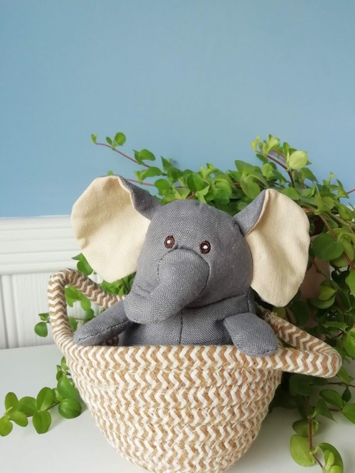 Wilberry, Grey Elephant in Basket