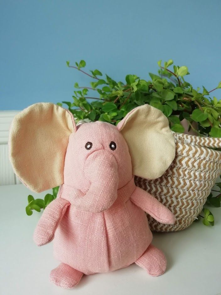 Wilberry, Pink Elephant in Basket