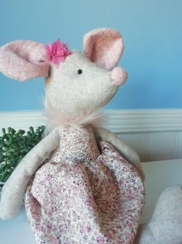 Wilberry, Mouse in Floral Dress and Bow on Head (Last One)