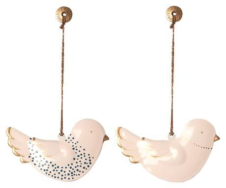 Maileg, Metal Bird Ornaments (set of two) Due Late Sept