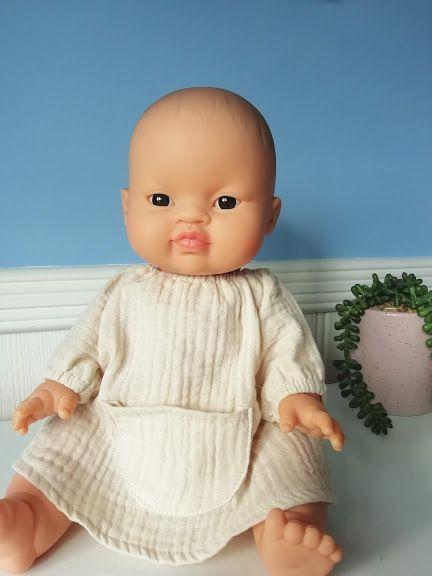 Minikane, Jeanne Dress Double Gauze Cotton (Putty)