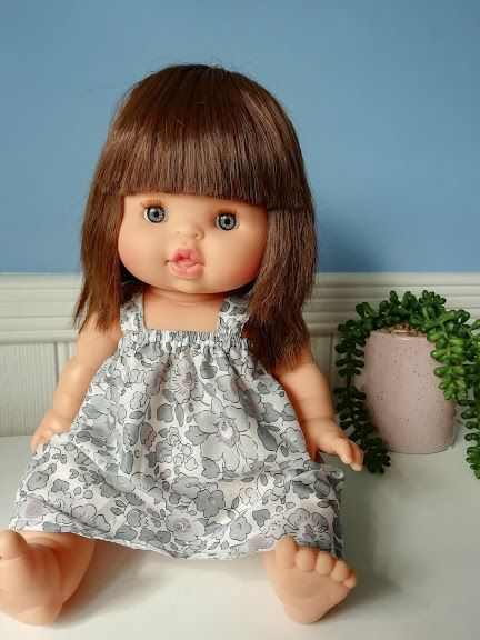 Minikane, Mila Dress (Liberty light blue Betsy)