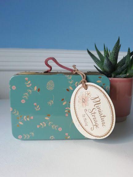 Maileg, Metal Suitcase - Blue Floral Elia