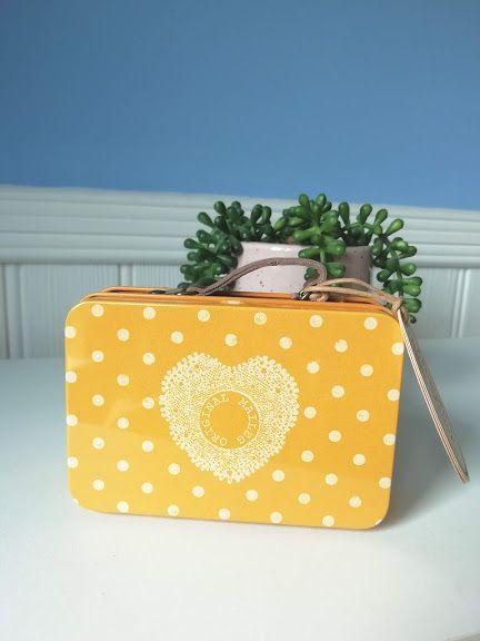 Maileg, Metal Suitcase - Yellow Dot