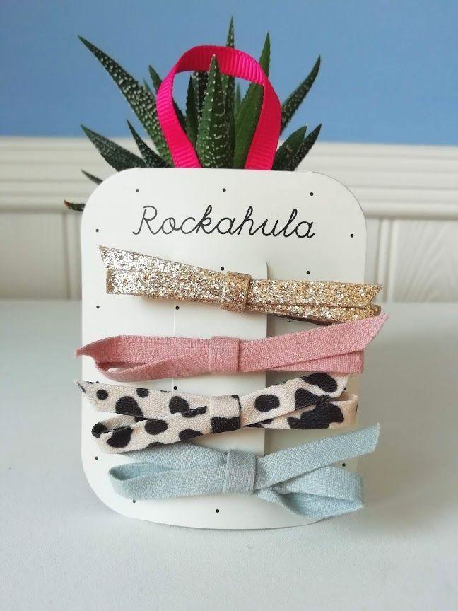 Rockahula Kids, Lily Leopard Skinny Bow Clips
