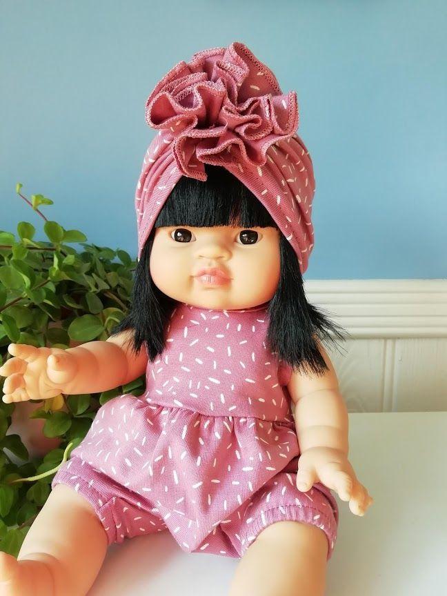 Minikane, Noa - Rose Spotty Outfit w Matching Turban