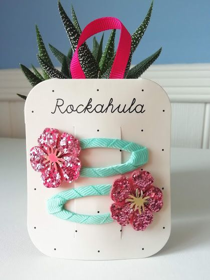 Rockahula Kids, Hibiscus Glitter Clips