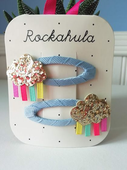 Rockahola Kids, Rainy Cloud Glitter Clips