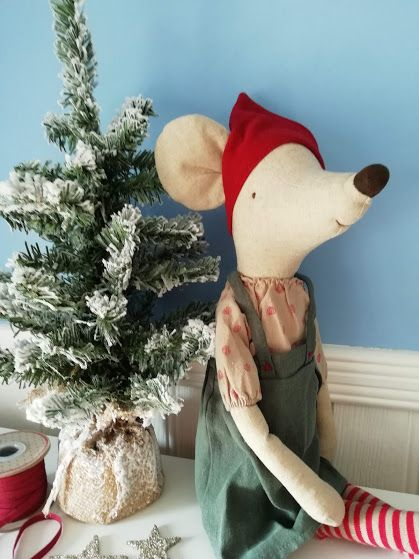 Maileg, Christmas Mouse Maxi Girl