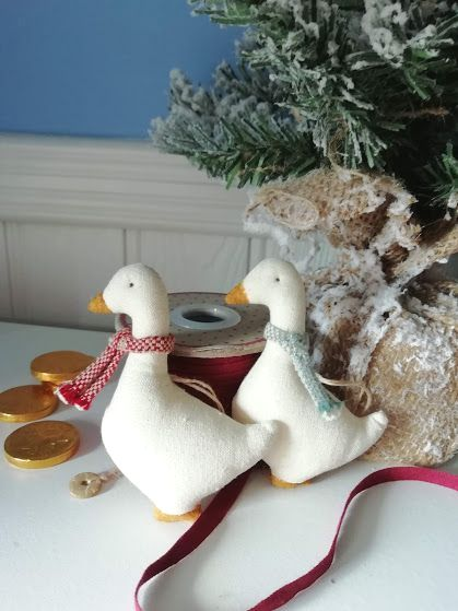 Maileg, Set of Two Geese Tree Decorations