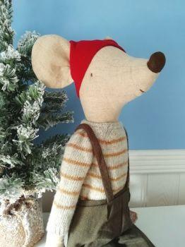 Maileg, Christmas Mouse Maxi Boy