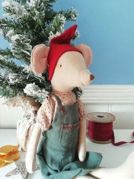 Maileg, Christmas Mouse, Medium Girl