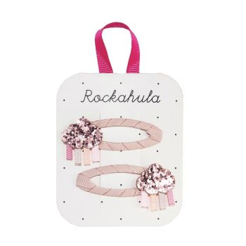 Rockahula Kids, Rainbow Cloud Glitter Clips (Pink)
