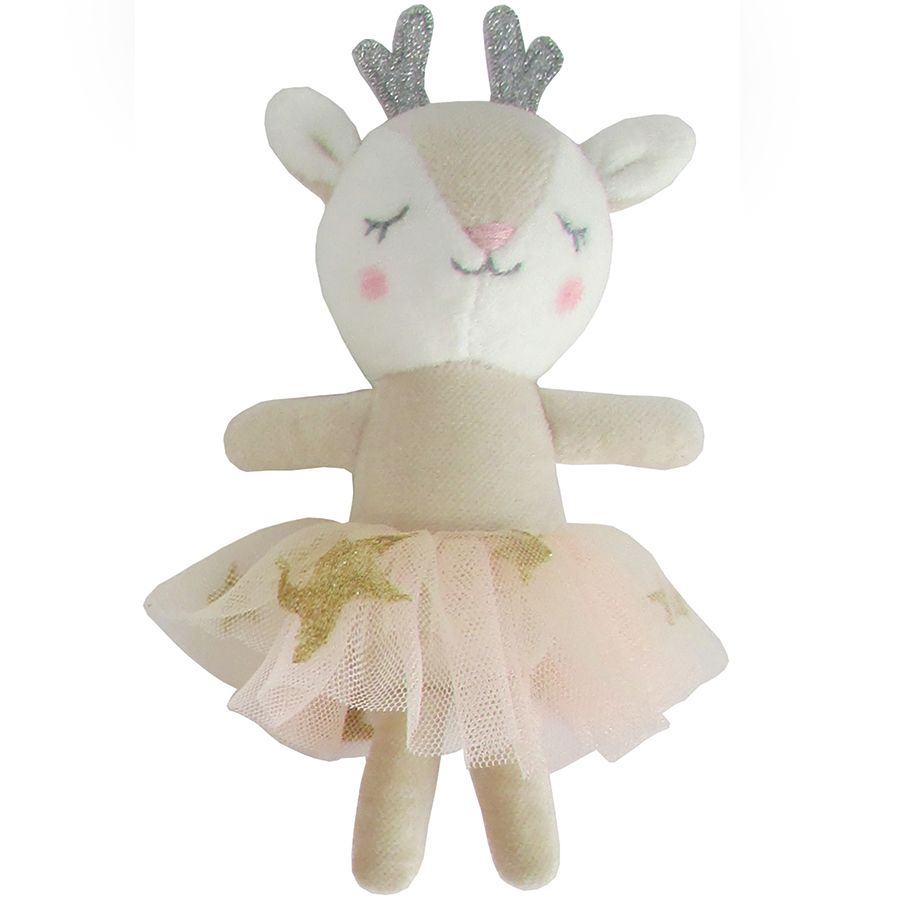 Albetta, Mini Beige Velvet Deer (12cm)
