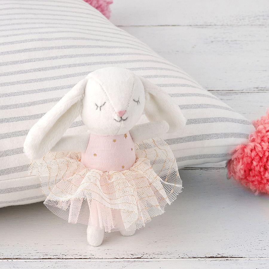 Albetta, Mini White Velvet Bunny (12cm)