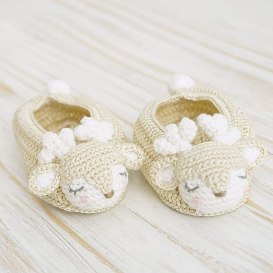 Albetta, Crochet Fawn Booties 3-6 months