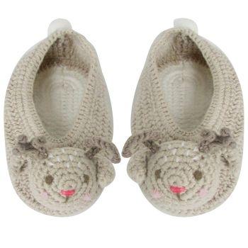 Albetta, Crochet Reindeer Booties 3-6 months