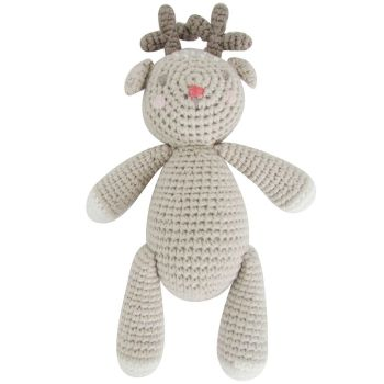 Albetta, Crochet Reindeer Rattle Toy