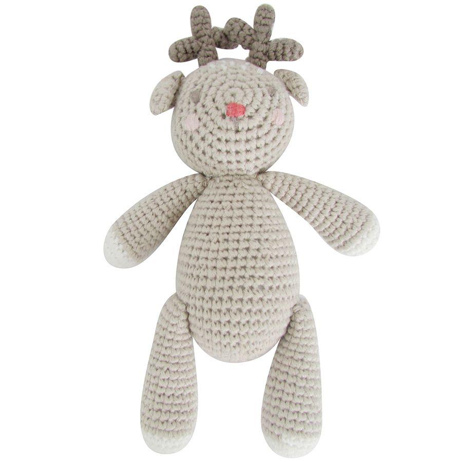 Albetta, Crochet Reindeer Rattle Toy