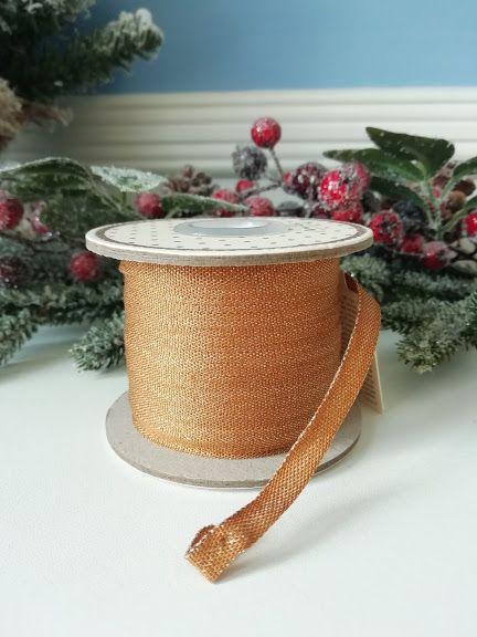 Maileg, Ribbon, 25 m - Ocher/Gold