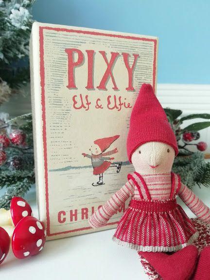 Maileg, Pixy Elf in Matchbox - Girl
