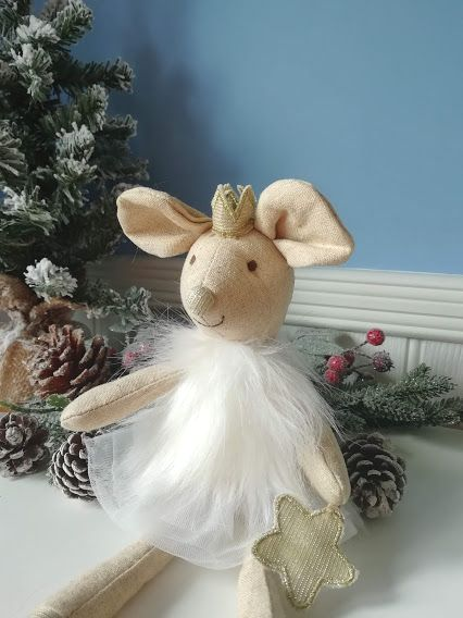 Wilberry, Mouse in White Fairy Outfit with Star on Paw