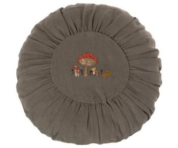 Maileg, Large Round Cushion - Green with Mushroom Detail