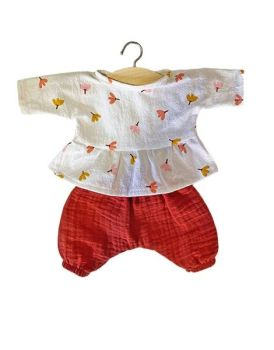 Minikane, Ophélia Set in Organic Cotton - Brick