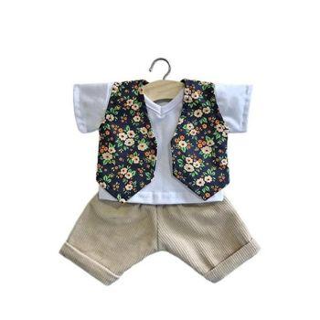 Minikane, 3 Piece Set with Floral Waistcoat