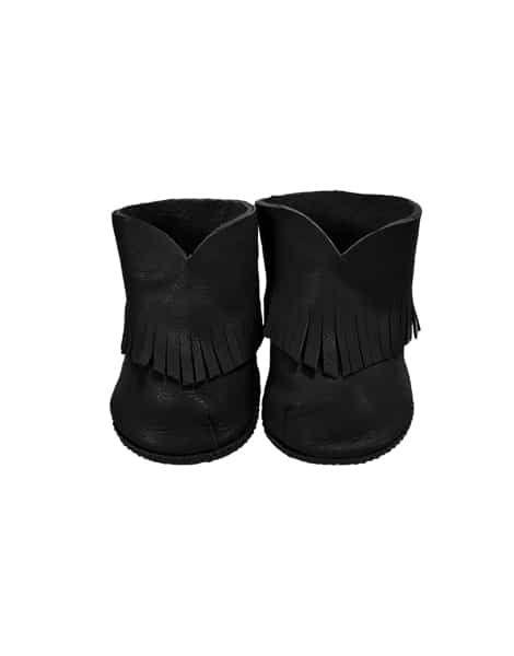 Minikane, Boho Leather Boots Black