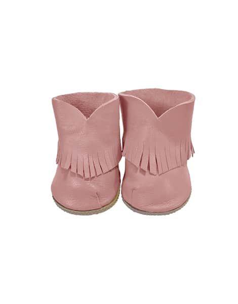 Minikane, Boho Leather Boots Pink