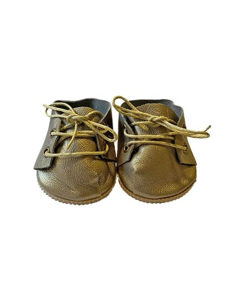 Minikane, Gold Leather Lace-Up Shoes
