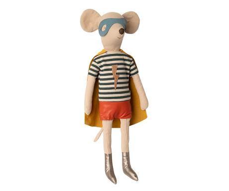 Maileg, Superhero Mouse, Maxi - Boy