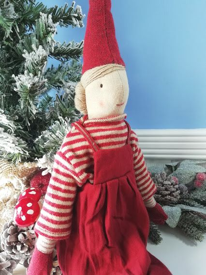 Maileg, Medium Girl Pixy in Red Dress