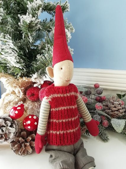 Maileg, Mini Pixy - Boy in Red Jumper