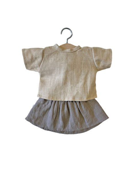 Minikane, Putty lined Rejane set/ Taupe (Top and Skirt)