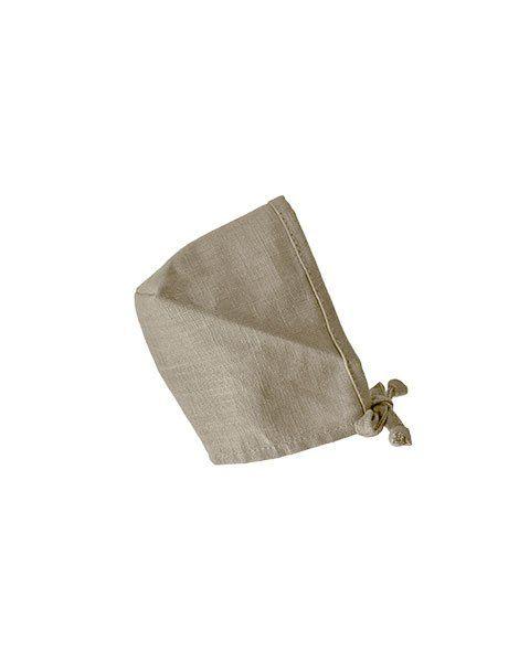 Minikane, Round Bonnet Linen Crush  - Mastic