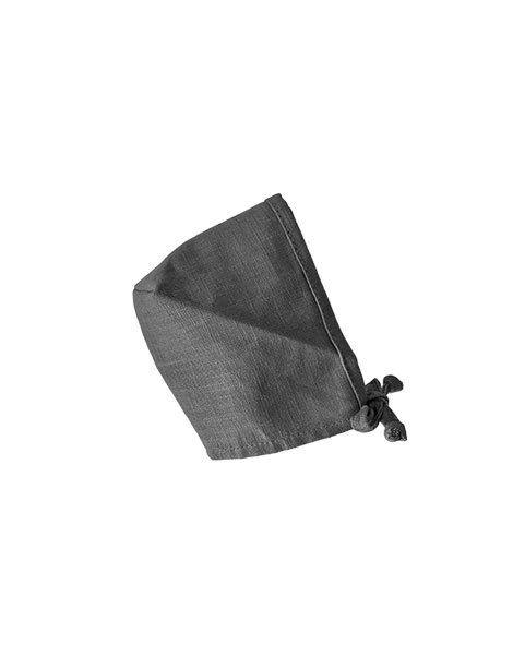 Minikane, Round Bonnet Linen Crush - Gris Anthracite